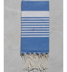 Arthur royal blue striped white fouta.