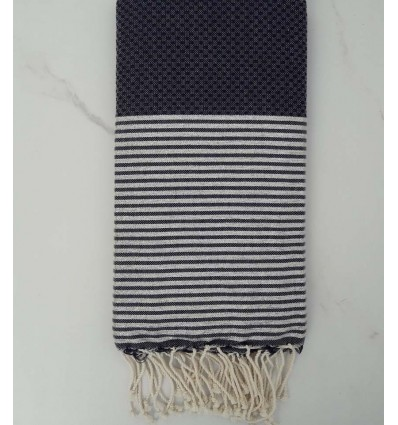 Honeycomb midnight blue lurex fouta