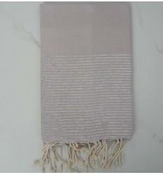 Flat pale pink lurex fouta