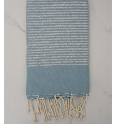 Flat light blue lurex fouta