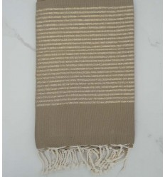Flat coffee lurex fouta