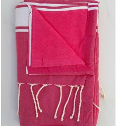 Terry pink fouta