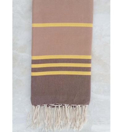Taupe,yellow and brown throw