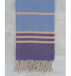 Purple,blue and nasturtium throw
