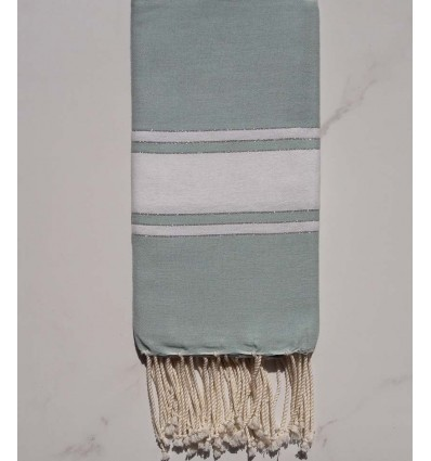 Light moss green lurex fouta