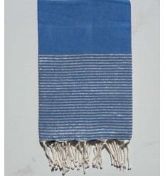 Flat electric blue lurex fouta