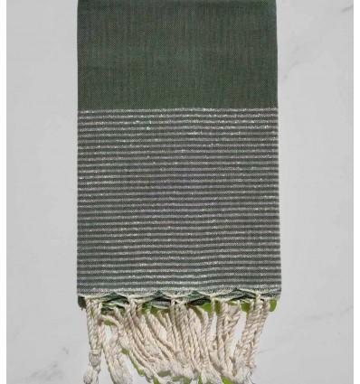 Flat caribbean green lurex fouta