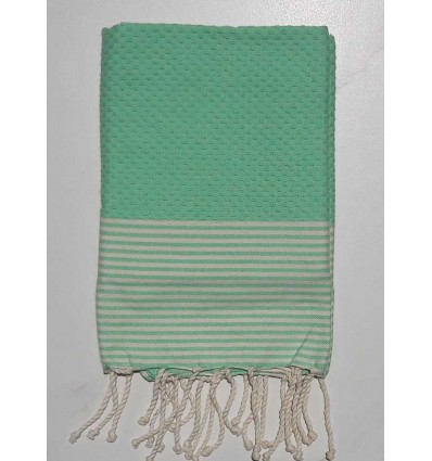 Honeycomb mint watercolor child fouta