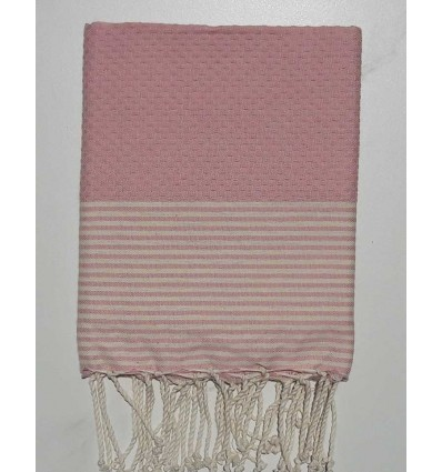 Honeycomb incarnadine pink child fouta