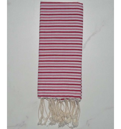 Ziwane light pink,dark pink and white child fouta