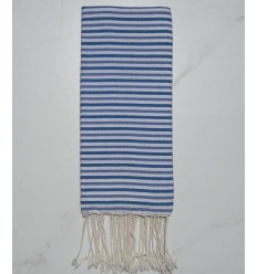 Ziwane blue-grey and white child fouta