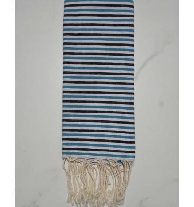 Ziwane azure blue,black and white child fouta