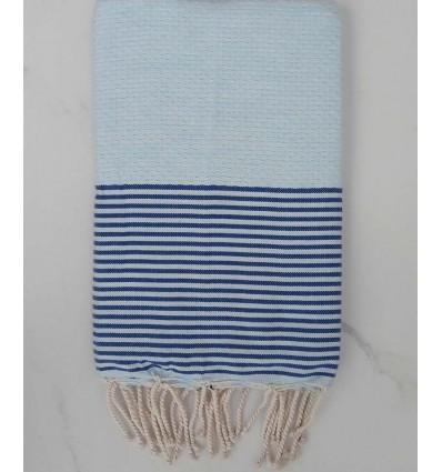 Honeycomb light blue striped blue Fouta