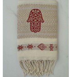 Khomsa Barn red Fouta