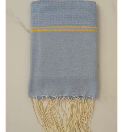 Honeycomb blue and yellow child Fouta
