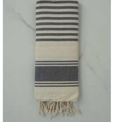 Gray and white child Fouta
