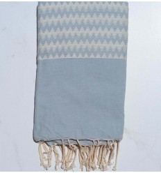 Zigzag light blue Fouta