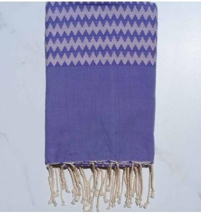 Zigzag light purple Fouta