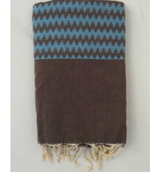 Zigzag taupe Fouta
