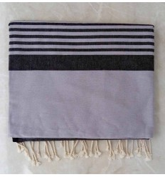 gray horizon with stripes throw