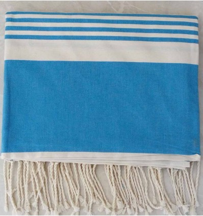 Dodger blue with stripes throw