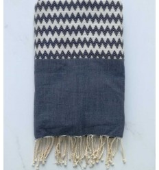 Zigzag blue denim Fouta