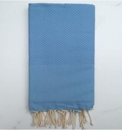 Plain honeycomb maya blue fouta