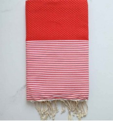 Honeycomb Ferrari Red Fouta