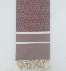Chevron brown Fouta