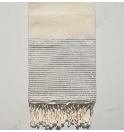 Flat cream white lurex fouta