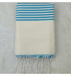 white cream striped blue
