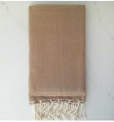 Plain honeycomb tan fouta