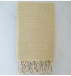 Plain honeycomb pale yellow fouta