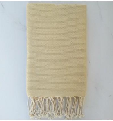 Plain honeycomb pale yellow fouta