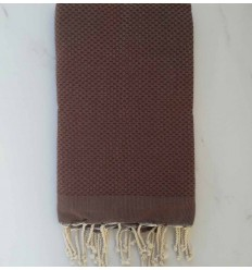 Plain honeycomb brown fouta
