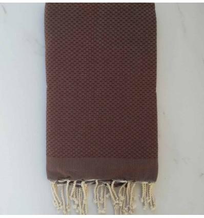Plain honeycomb brown fouta