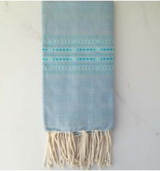 Thalasso blueberry with light blue patterns fouta
