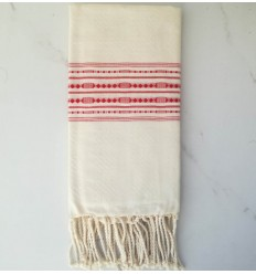 thalasso white cream beach towel