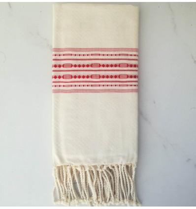 thalasso white cream beach towel