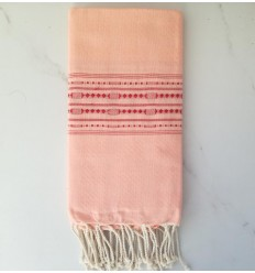thalasso light pink beach towel