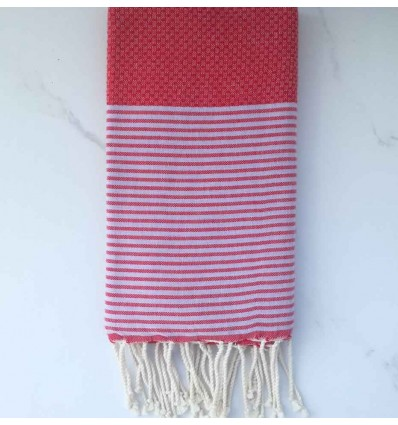 Honeycomb Amaranth red Fouta