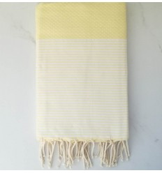 Honeycomb pale yellow Fouta