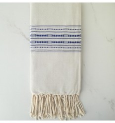 Fouta arabesque rayée rouge