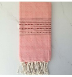 thalasso Coral pink beach towel