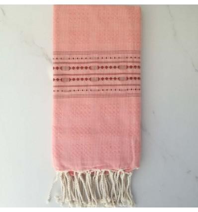 thalasso Coral pink beach towel