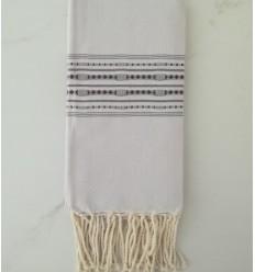 thalasso Bright gray beach towel