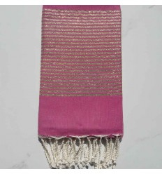 Flat dark pink lurex fouta