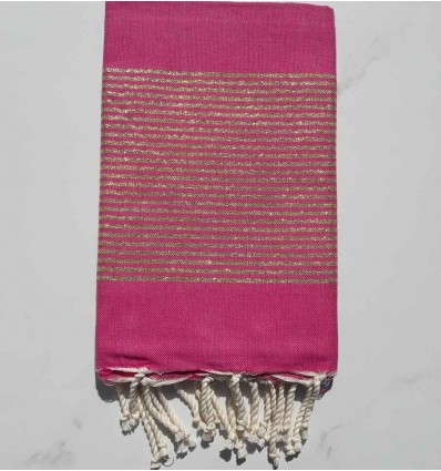 Candy pink lurex fouta