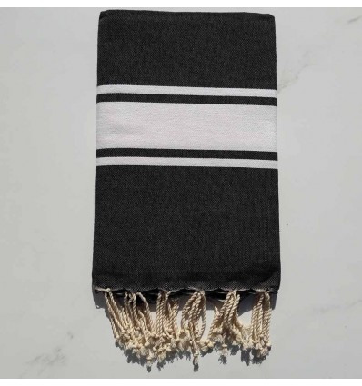 Flat grey black fouta