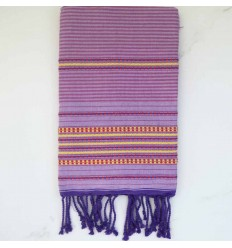 arabesque Bright ube beach towel